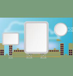 empty city billboard vector image