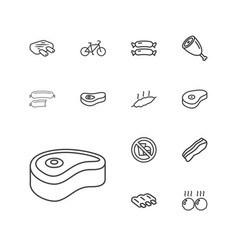 Fat icons vector