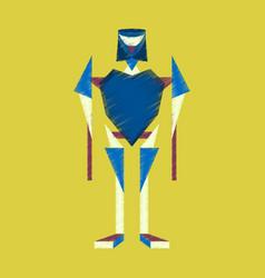 flat shading style icon toy robot vector image
