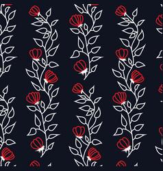 Floral branch pattern vector