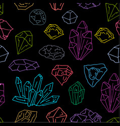 gems pattern on dark vector image