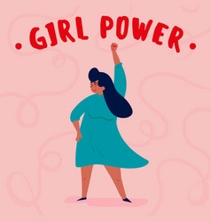 girl power single strong empowered woman vector image