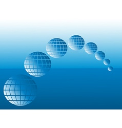 globes and sea vector image