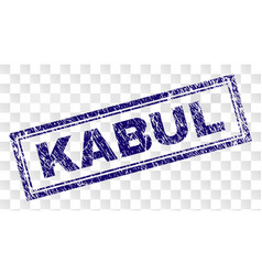 Grunge kabul rectangle stamp vector