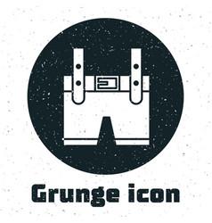Grunge lederhosen icon isolated on white vector