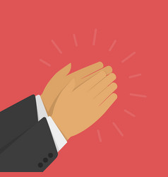 hands clapping vector image