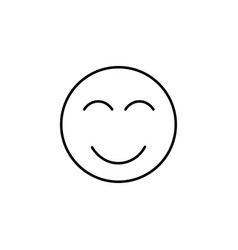 happy emoticon vector image