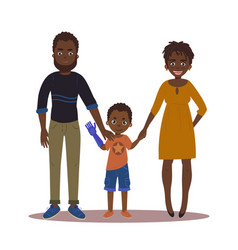 Happy family with disabled girl couple and son vector