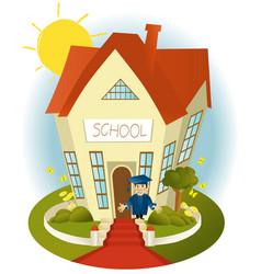 Happy school vector image