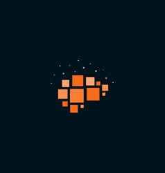 Human brain abstract logo template ai vector