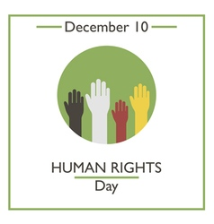 Human Rights Day vector image
