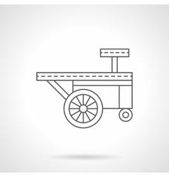 Ice cream trailer flat thin line icon vector