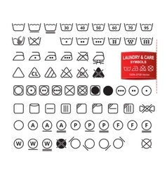 Icon Set of Laundry and Care Symbols vector image