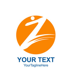 Initial letter z logo template colored yellow vector