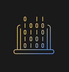 It gradient icon for dark theme vector