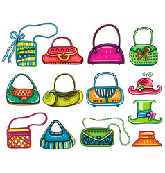 Lady purses vector
