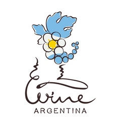 Logotype sign - wine from Argentina vector image