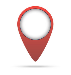 Map pin red colored marker vector