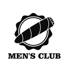 men club logo simple style vector image