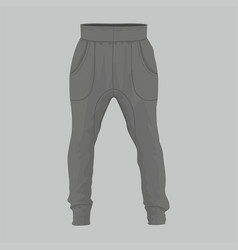 mens black sweatpants vector image