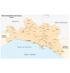 Metropolitan city genoa administrative map vector