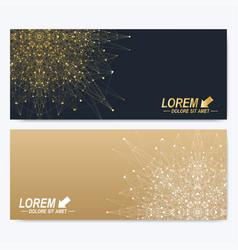 modern set ornate horizontal cards in oriental vector image