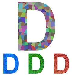 Mosaic font design - letter d vector