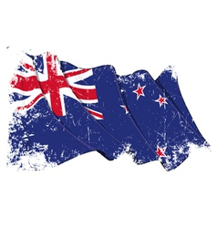 New Zealand Flag Grunge vector image