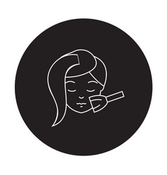 nourishing face mask black concept icon vector image