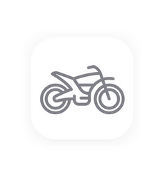 Offroad bike line icon motorcycle vector