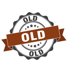 Old stamp sign seal vector