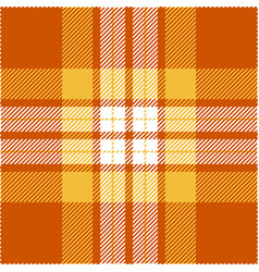 Orange and yellow tartan plaid seamless pattern vector