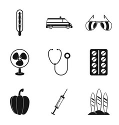 Organism icons set simple style vector