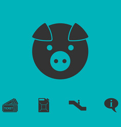 pig icon flat vector image