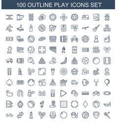Play icons vector