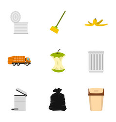 Recycling icons set flat style vector