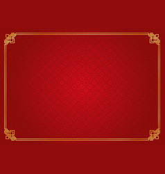 Red chinese rhombus and circle abstract background vector