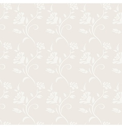 Roses grey vintage floral seamless pattern vector image