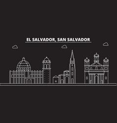 san salvador silhouette skyline el salvador vector image