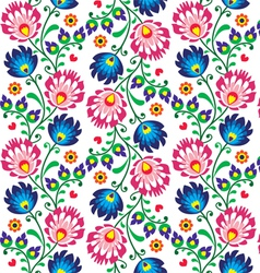 Seamless folk Polish pattern - wzor lowicki vector