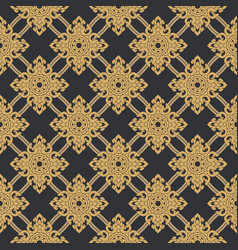 seamless line thai gold pattern on gray vector image