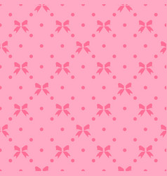 Seamless pattern with beautiful bows on vector
