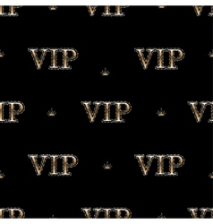 seamless pattern with golden text VIP vector image