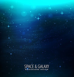 Space background with blue lights vector