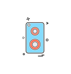 speaker music icon design vector image