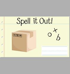 Spell english word box vector