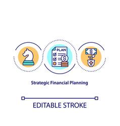 Strategic financial planning concept icon vector