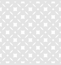 subtle abstract floral seamless geometric pattern vector image