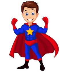 Superhero cartoon for you design vector