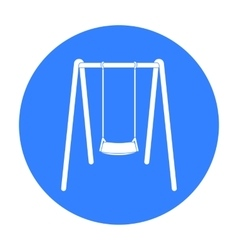 Swing seat icon in black style isolated on white vector